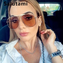 Double Bridge Aviation Sunglasses For Women Oversize Alloy L