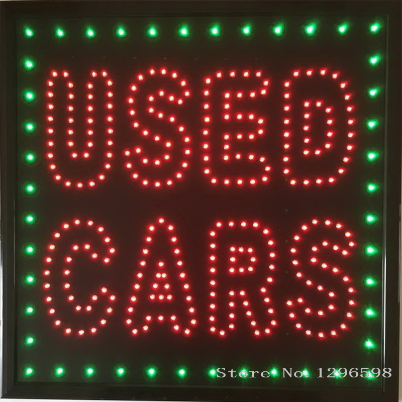 used sign neon business led cars graphics open inch 15mm 19x19 pixels signs indoor chenxi