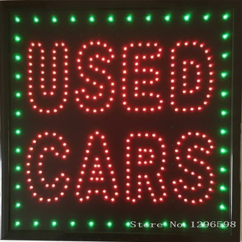 CHENXI Led used cars business store open neon sign 19x19 Inch hot sale graphics 15mm pixels indoor car used of business