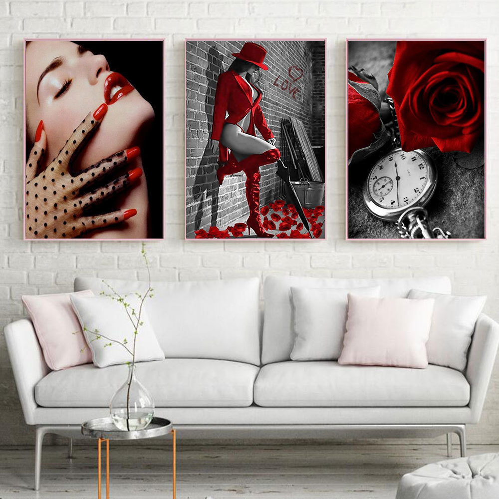 Huacan 5D DIY Diamantbroderi Full Square Flowers Patterns Rhinestones - Konst, hantverk och sömnad - Foto 2