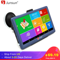 Junsun 7 Inch Car GPS Navigation Android Bluetooth WIFI Truck Vehicle Gps Auto Navigators Sat Nav