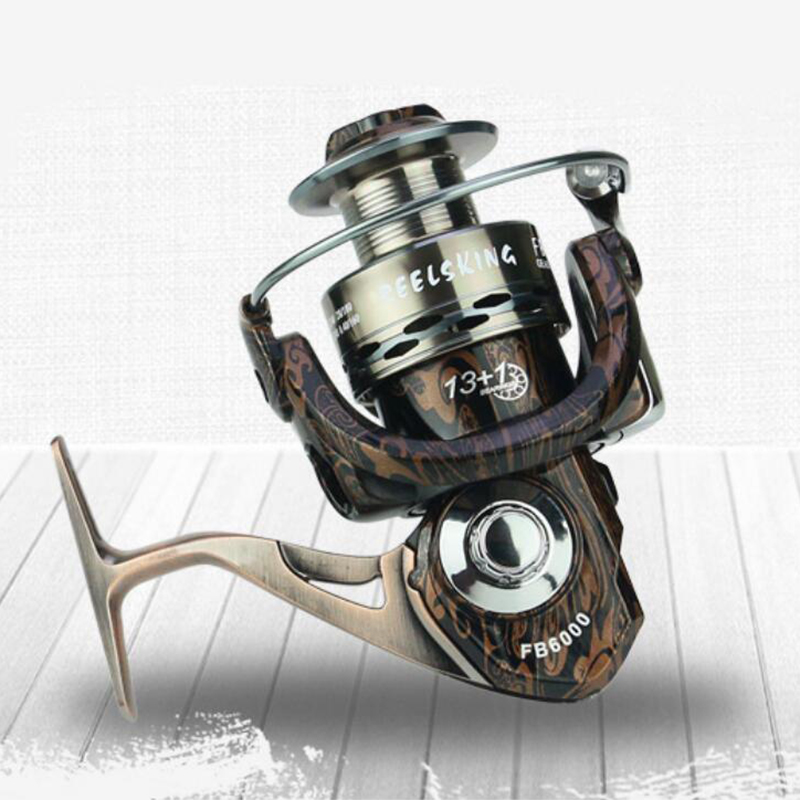 High Quality <font><b>Fishing</b></font> Reels 13+1BB Ball Bearing Fly Reel carrete pesca Gear Ratio: 5.0:1/4.7:1 Spinning moulinet peche