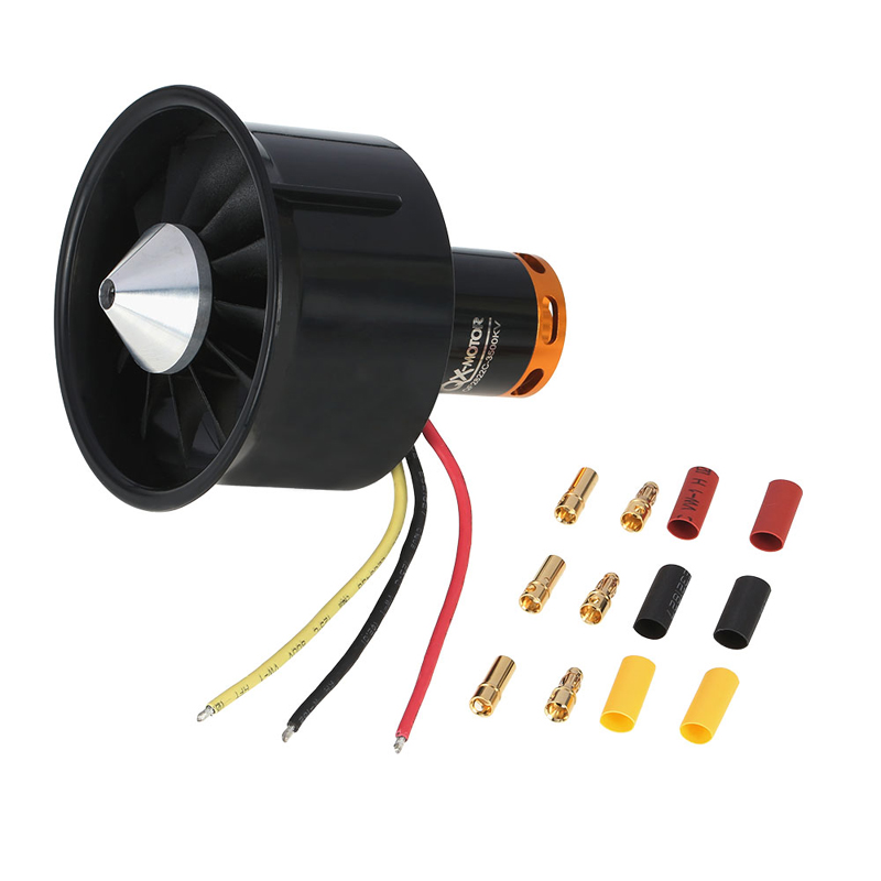1set 64mm 12-Blades Ducted Fan with EDF 2822 3500KV Motor for RC Airplane