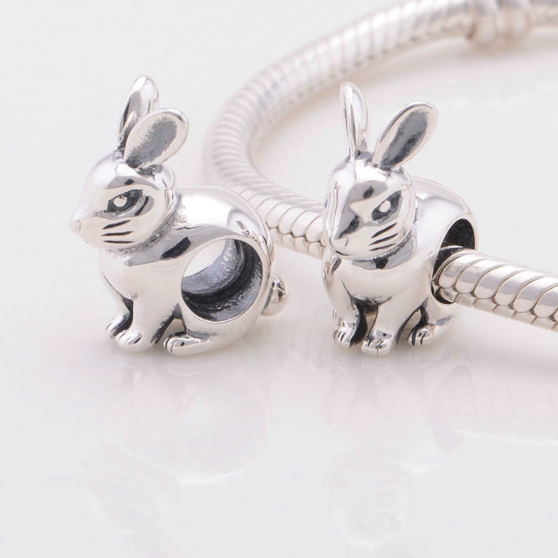 Rabbit Animal 925 Sterling Silver Charms European Beads for Snake Chain Bracelets Mother's Day Gifts Jewellery uRo2TSYfjD