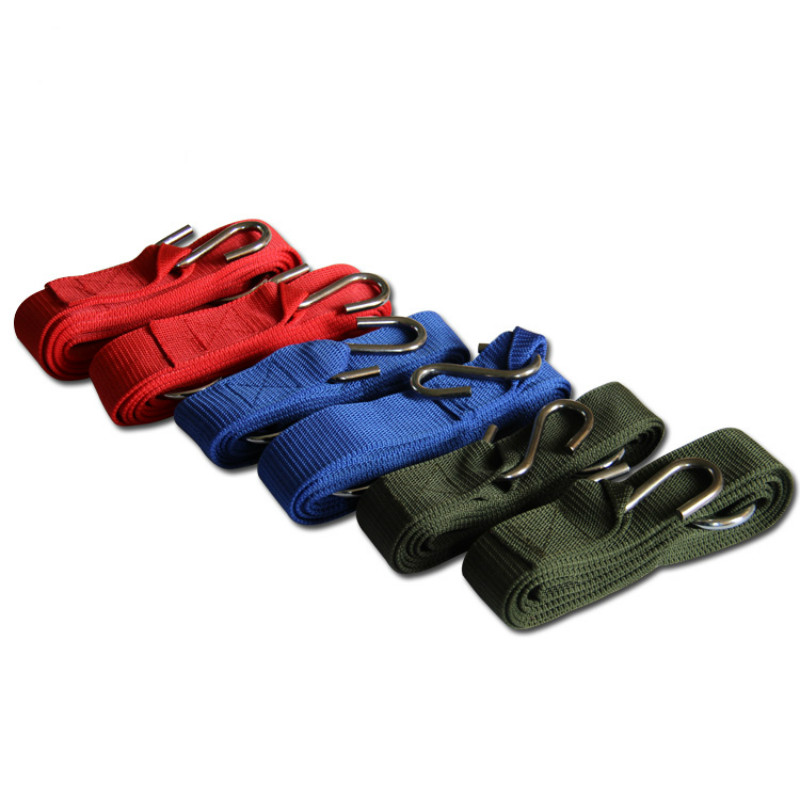 Outdoor Hammock Tied Rope Safe Rope Hammock Strap Nylon Strap with Steel Ring Buckle Swing Strap Hammock Hanging Accessories v cut solid romper with tied strap