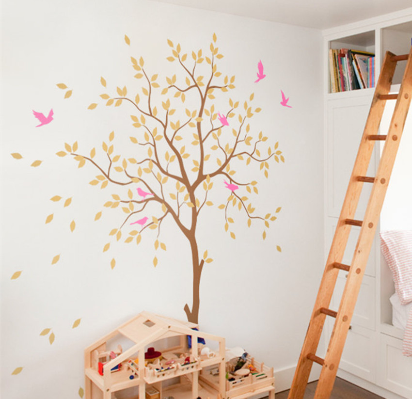 Decoratie Boom Kinderkamer.Us 38 5 Witte Boom Kinderkamer Decoratie Vogels Boom Decal Diy Art Sticker Kids Nurswry Slaapkamer Woonkamer Muur Decor Muurschildering Ny 192 In