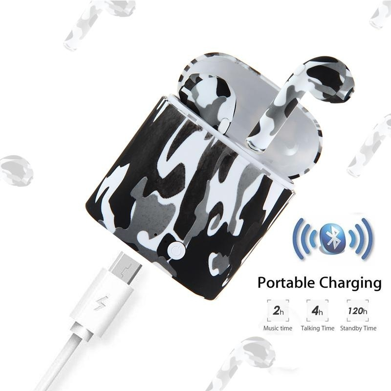 TWS Bluetooth Headset Ture Wireless Bluetooth Dual Headphones Painted Headphones Stereo Music Headphones Portable mini JBBL