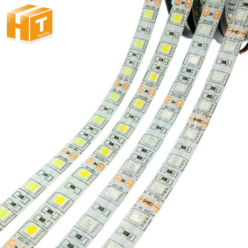 LED Strip 5050 DC12V 60 LED/M Fleksibel Lampu LED RGB RGBW 5050 LED Strip 300LED 5 M/lot
