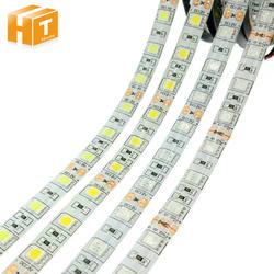 Светодиодные ленты 5050 DC12V 60 Светодиодный s/М гибкий светодиодный свет RGB RGBW 5050 Светодиодные ленты 300 светодиодный s 5 м/лот
