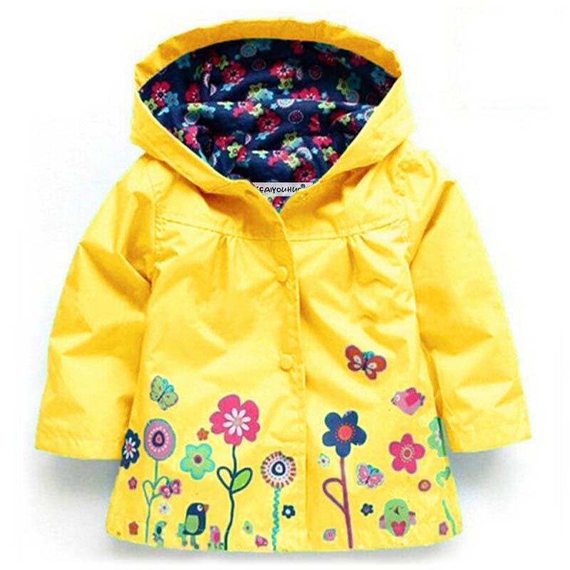 Autumn 2019 Girls Jackets Children Outerwear Hooded Girls Coats Casual Windbreaker For Girls Waterproof Raincoat Kids Clothes