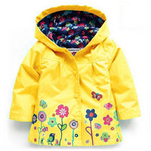 cb69f506b Spring 2019 Girls Jackets Children Outerwear Hooded Girls Coats Casual  Zipper Jackets For Girls Waterproof Raincoat