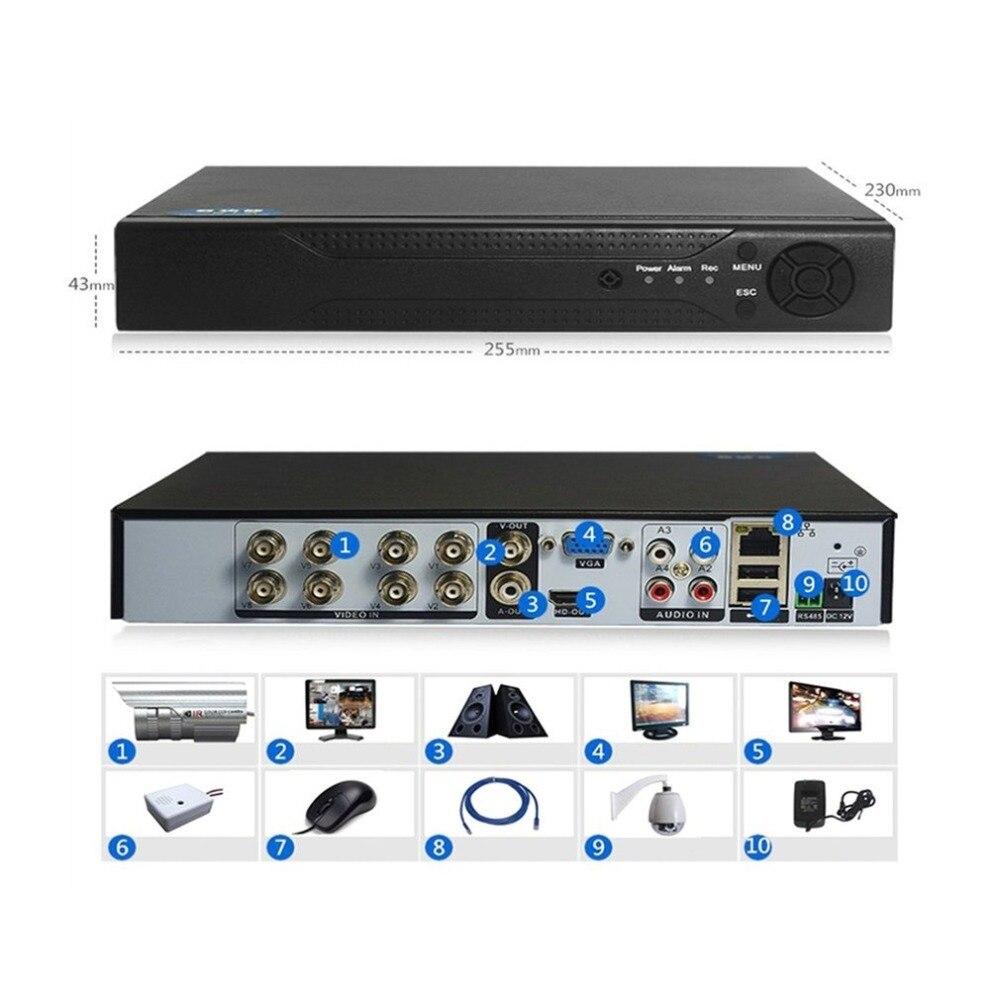1080P 8 Channels DVR  H.264  Monitor Security NVR 960H Recorder DVR P2P Hard Disk Video Recorder Digital Analog 1 Machine 3 Uses
