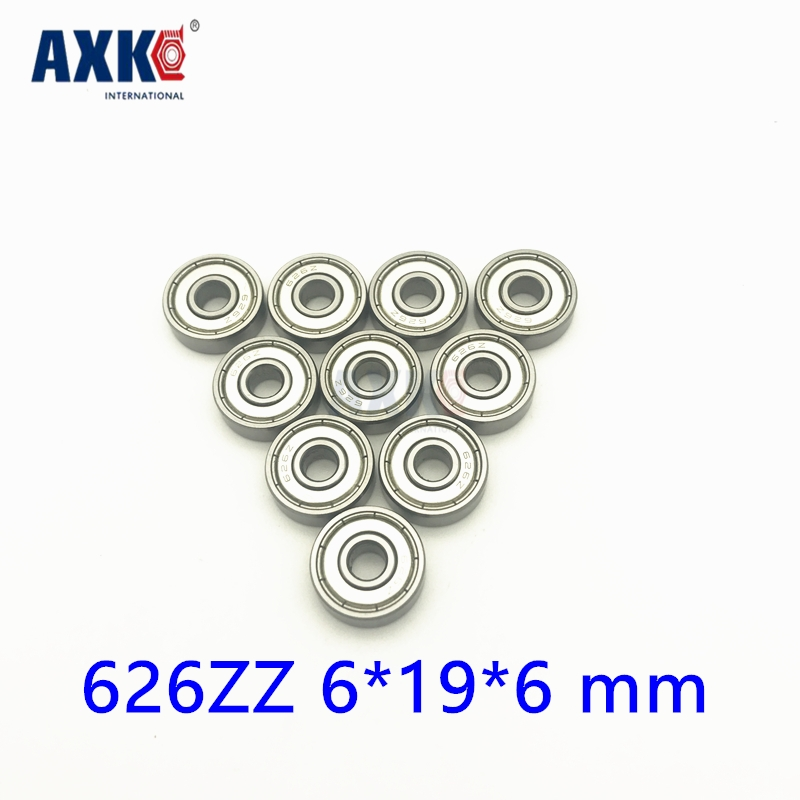 цена 2018 Hot Sale Rolamentos Rodamientos 10pcs Free Shipping 626z Abec5 626 Zz Miniature Deep Groove Ball Bearing 626zz 6*19*6 Mm