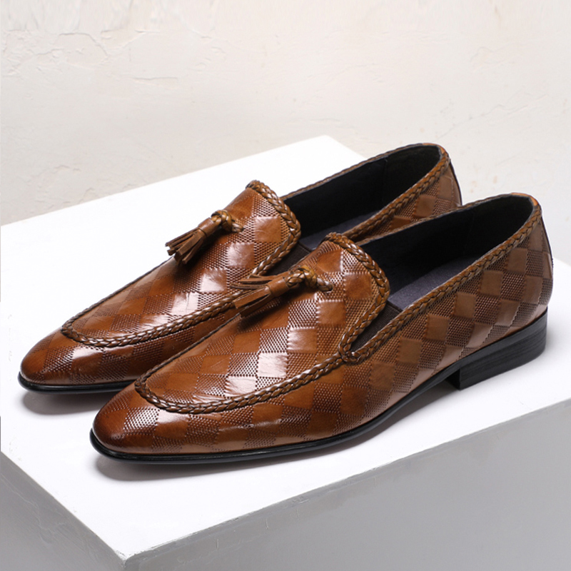 Men leather shoes business dress suit shoes men brand Bullock genuine leather black slipon tassel wedding mens shoes PhenkangMen leather shoes business dress suit shoes men brand Bullock genuine leather black slipon tassel wedding mens shoes Phenkang
