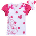 Новый летняя мода с коротким рукавом мультфильм для малышей baby дети девочек майка розничные дети топы тис одежда