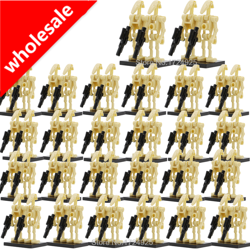 Wholesale 100pcs/lot Star Wars Battle Droid Figure Starwars Model Set Building Blocks kits Brick Toys for Children clone wars battle for ryloth the graphic novel