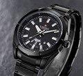 Relogio masculino Naviforce моды случайные спортивные часы мужчины полный нержавеющей стали кварцевые наручные часы Роскошные водонепроницаемые часы мужчины