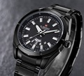 Relogio masculino moda casual naviforce reloj deportivo hombres completa de acero inoxidable relojes de pulsera de cuarzo de lujo impermeable del reloj de los hombres