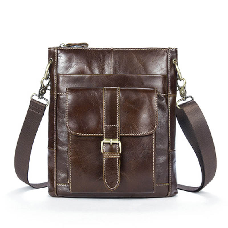 YISHEN Genuine Cowhide Leather Men Shoulder Bags Casual Solid Male Messenger Bags Small Travel Flap Bags Crossbody Bags MLT8091 2016 new men s messenger bags genuine leather waist bags the first layer cowhide shoulder bags fashion casual crossbody bags