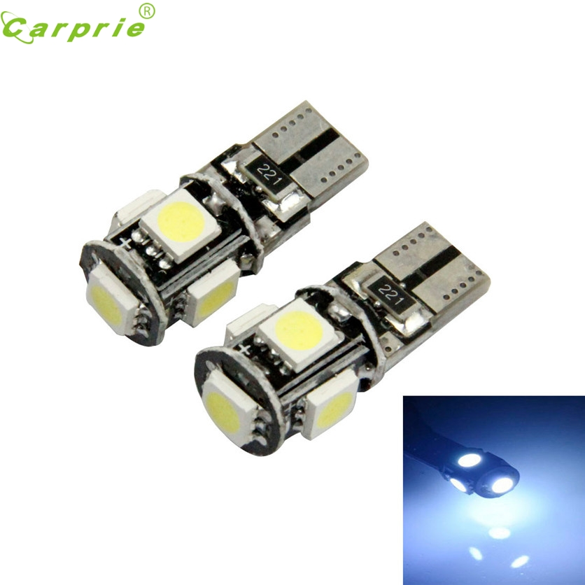 CARPRIE Car Light New 2pcs Canbus Error Free White T10 5-SMD 5050 <font><b>W5W</b></font> 194 16 Interior <font><b>LED</b></font> <font><b>bulbs</b></font> Lamp 12V New White #1220