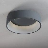 Современные круглый круг светодиодный потолочный светильник на потолке круговое кольцо лампа для фойе Спальня Украшения для кухни светиль