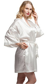 Women Fashion Clothes - Short Satin Kimono 1