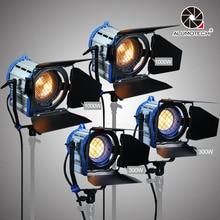 ALUMOTECH Para Camera Film videoDimmer Embutido 300wX2 + 1000WX2 Fresnel Tungstênio luz Do Ponto