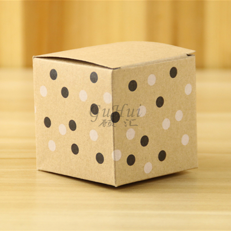 50pcs/lot European Cute Black Dot Printing Kraft Paper Wedding Candy Box Party Favors Chocolate Candy Bags Baby Birthday Gifts
