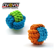 Natural Rubber Cotton Rope Ball Shape Pet Dog Clean Teeth Toy Pet Dog Toy Teeth Cleaner For Training Jump Catch Teeth Clear Toy