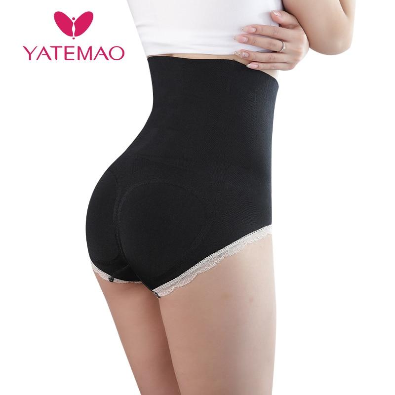 YATEMAO Waist Body Shaper Women High Waist Tummy Control Panties Seamless Belly Waist Slimming Pants Panties Shapewear