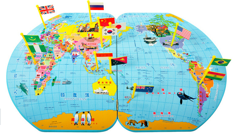 33 ideas world map with flags puzzle on christmashappynewyears maps picture more detailed picture about factory wholesale child gumiabroncs Choice Image