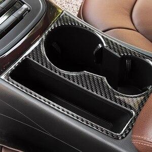 Image 2 - For Audi A4 2009 2010 2011 2012 2013 2014 2015 2016 Carbon Fiber Interior Water Cup Holder Navigation Panel Cover Sticker Trim