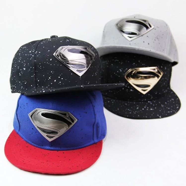 Superman Snapback Brand Hat Gorras Planas Baseball Cap Hip Hop Caps Gorro For Men Women Casquette Superman Hats Chapeau Homme