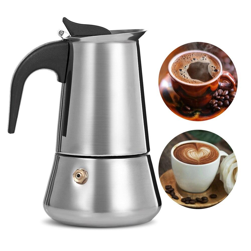 FIMEI Stainless Steel Coffee Stovetop Espresso Maker Pot With Plastic Handle Coffee Tea Pot Espresso Latte Percolator Pot стоимость