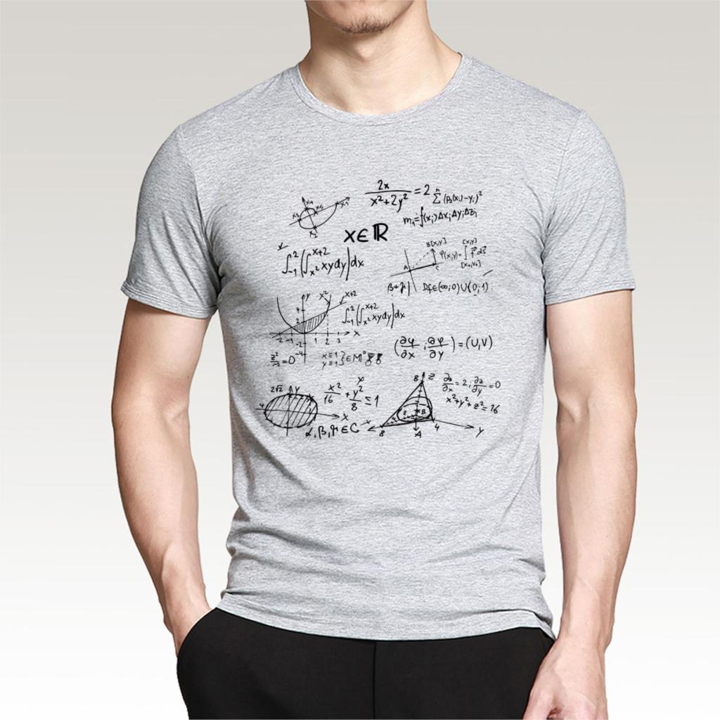 T-shirts 2019 Mathematical Formula Print Men Cotton the Big Bang Theory T Shirts Tee tops brand clothing funny camisetas tshirts