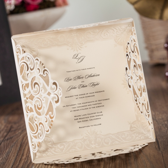 Wishmade 50pcs 2017 new wedding invitation design laser cut cards wishmade 50pcs 2017 new wedding invitation design laser cut cards square lace engagement marriage anniversary cardstock cw6109 in cards invitations from stopboris Image collections