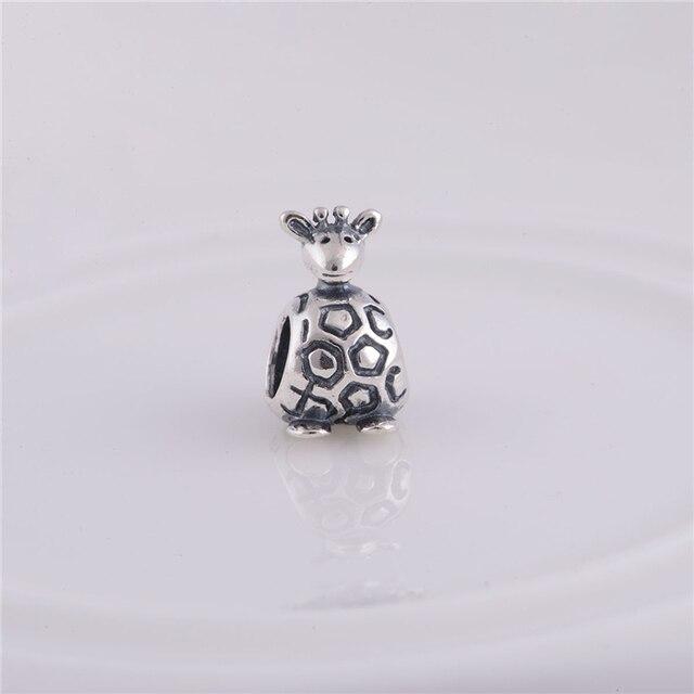 Lw062 Whole 925 Sterling Silver Thread Animal Giraffe Charm Bead Fit Original Pandora Charms Bracelet Jewelry