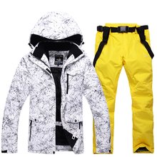 NEW Snowboarding Sets Skiing suits jackets and pants Female male models snow ski clothes women men Waterproof Windproof warm