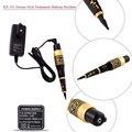 Nueva KX-103 Profesional Tatuaje Permanente Pluma de La Ceja del Maquillaje de La Máquina con Kit 15 Agujas 15 Consejos de Alimentación Negro y Oro