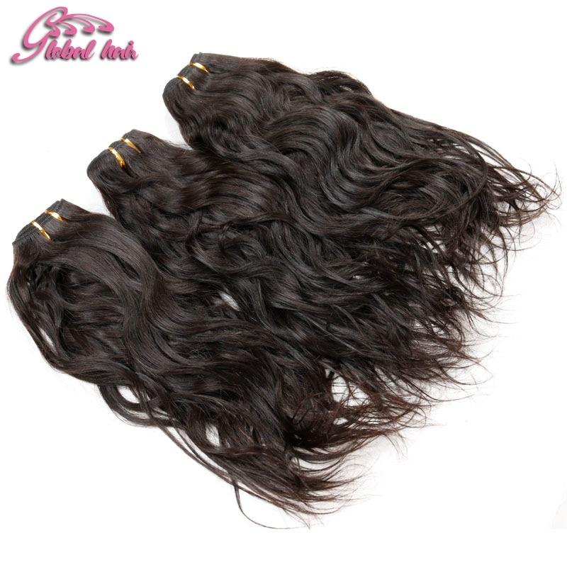 Gluna Hair 3Pcs lot raw virgin hair Brazilian Natural Wave No Tangle No Shed water wave