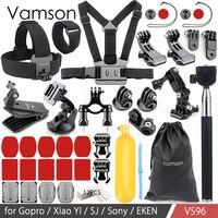 Vamson for Gopro accessories set for go pro hero 6 5 4 3+ kit mount for Xiaomi for yi 4k for Eken camera tripod VS96
