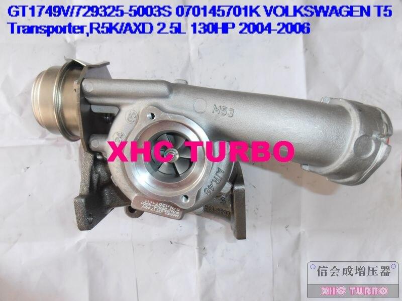 NOVÝ GT1749V / 729325 070145701K Turbo Dmychadlo pro VOLKSWAGEN Transporter, R5K / AXD 2.5L 130HP 04-06