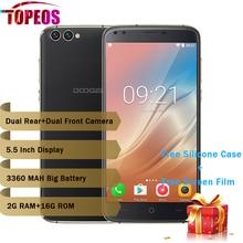"DOOGEE X30 Quatre Caméra 2×8.0 MP + 2×5.0 MP Android 7.0 mobile téléphone 3360 mAh 5.5 ""MTK6580A Quad Core 2 GB RAM 16 GB ROM Smartphone"