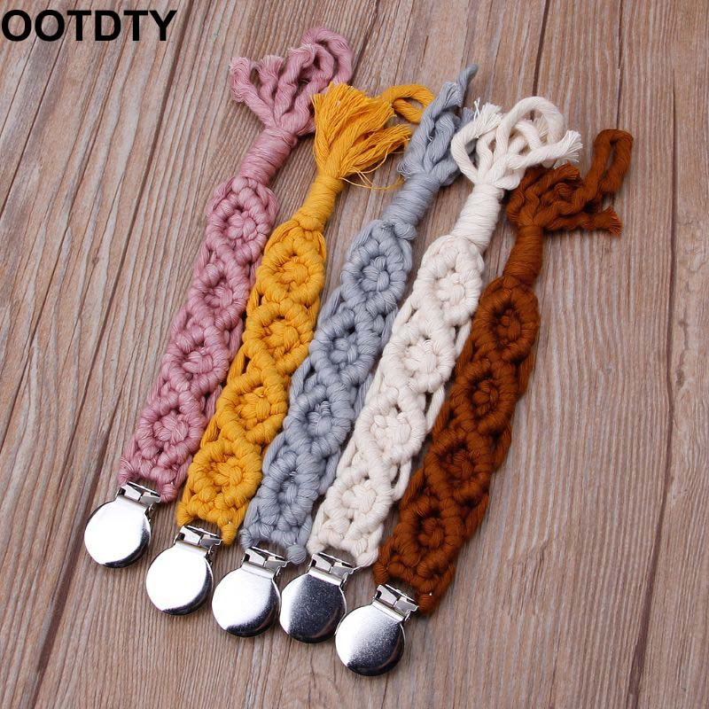 Dummy Clips Baby Pacifier Clips Pacifier Holder Straps For Boys Girls Cotton Teething Clips Modern Unisex Design