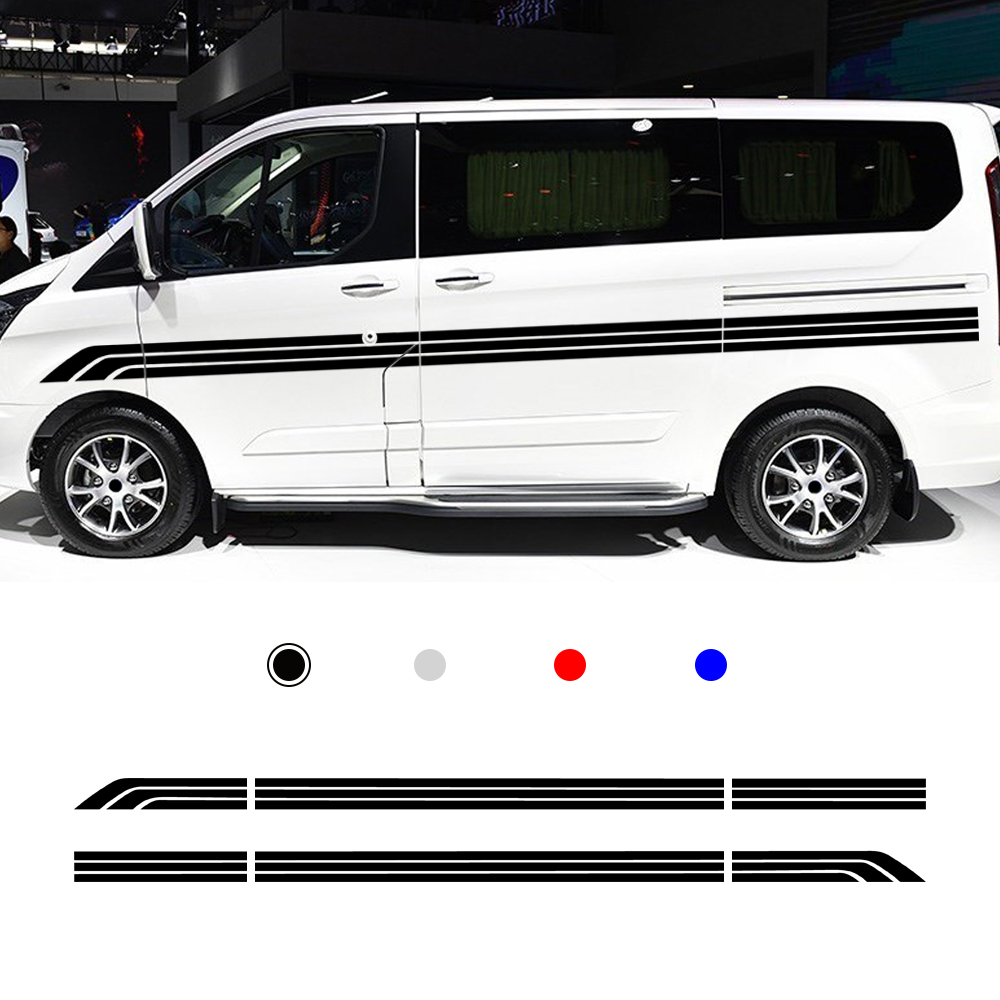 <font><b>Motorhome</b></font> Camper Van Body Stripes <font><b>Decals</b></font> <font><b>Stickers</b></font> Vinyl Graphics 1 pair(L+R image