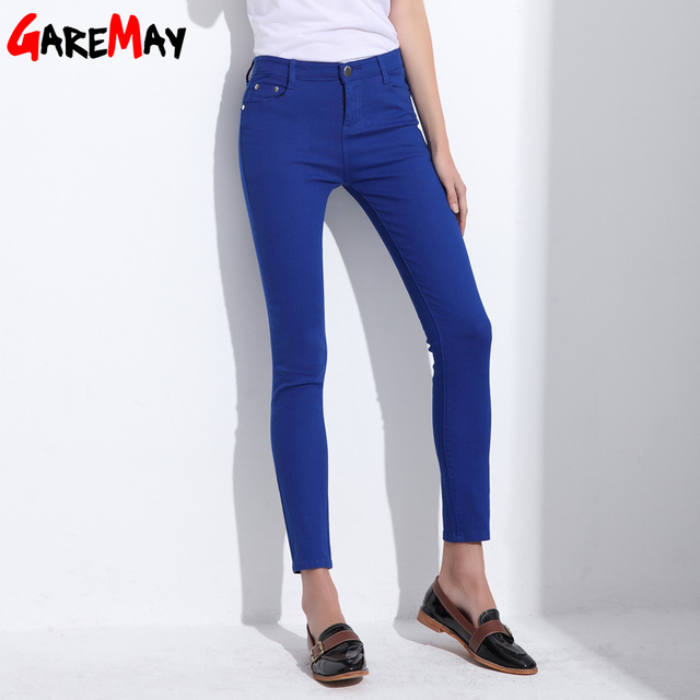 GAREMAY Women's Candy Pants Pencil Trousers 2018 Spring Fall Khaki Stretch Pants For Women Slim Ladies Jean Trousers Female 1010 2