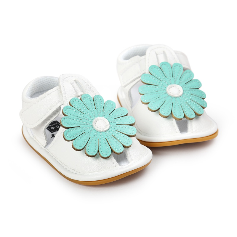 Summer Kids Girls Cute Tartan Hollow Out Princess Flower Breathable Non-slip Soft Bottom Cack Sandal