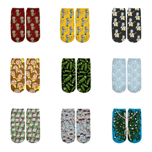 Newest Rick and Morty 3D Printed Cartoon cute short ankle socks for Men Women ha