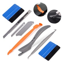 EHDIS Tools Set for Vinyl Car Wrapping Magnetic Micro Stick Squeegee Scraper Wrap Foil Film Cutting Knife Auto Accessories