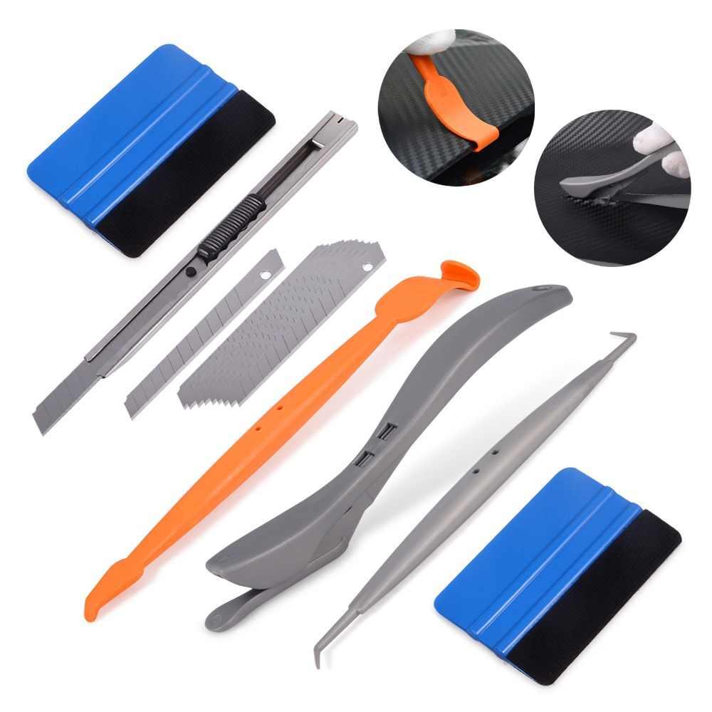 EHDIS Инструменты Набор для виниловых пленка для оклейки автомобиля Магнитная Micro Stick Ракель скребки автомобиля обёрточная бумага фольга плёнки резка ножи Авто Инти
